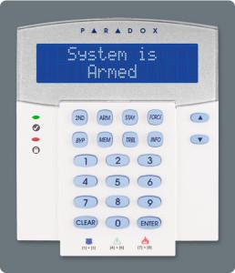 Alarm keypad by Paradox Alarm