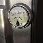 A damaged Medeco mortise cylinder in Toronto