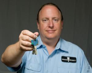 Locksmith Jason Scheide of Spadina Security